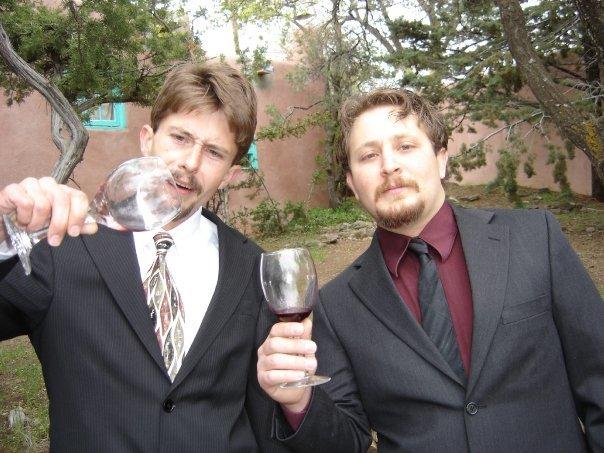 Michael and Ian, at Ian's Wedding