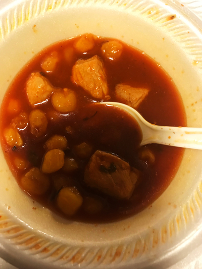 Bowl of Posole.
