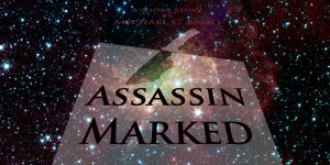 Assassin Marked book cover floating in space